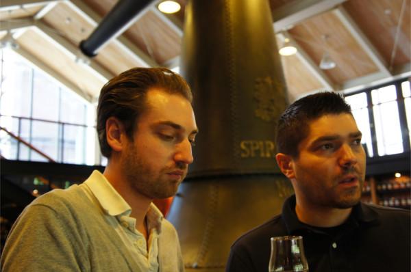 Nico & Fred at the Yamazaki Whisky Library